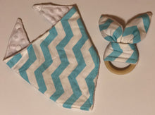 Load image into Gallery viewer, Wooden Bunny Ear Teethers & Matching Bibs