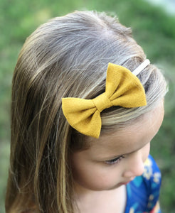 Leather Bow Headband 3 Pack - Fuchsia, Navy & Mustard