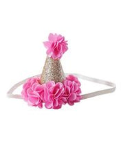 Load image into Gallery viewer, Birthday Cone Crown - Pink