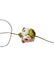 Load image into Gallery viewer, Floral Tieback Headband - Pink, Lime & Ivory