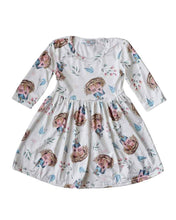 Load image into Gallery viewer, Birdhouse Pleated Dress + Bow