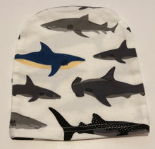 Load image into Gallery viewer, Swaddle Sack & Beanie - Sharks