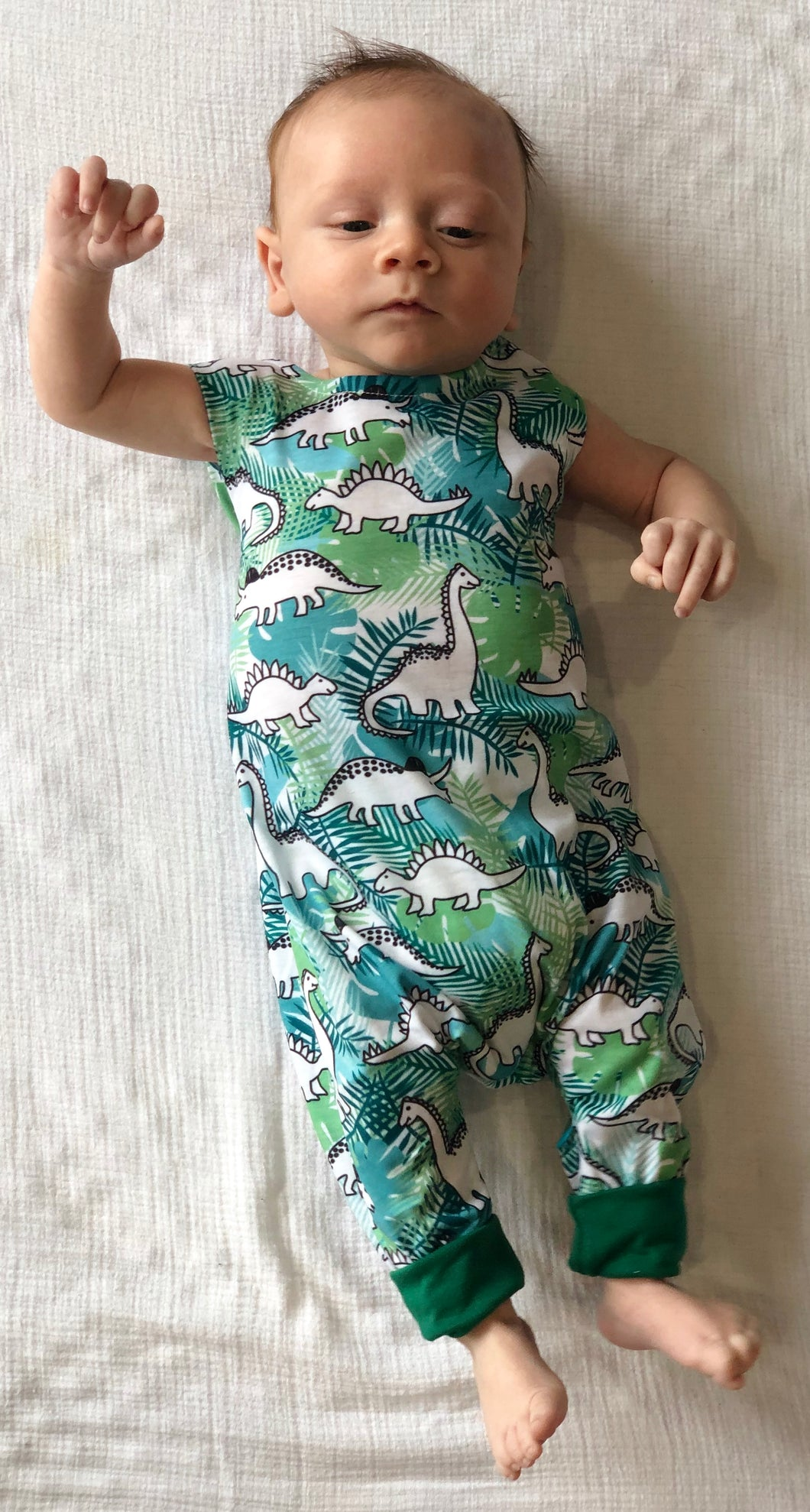 Green Dino Jumpsuit