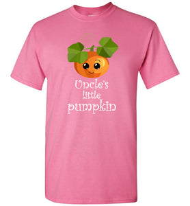 Uncle's Little Pumpkin Youth Unisex Tee Shirt T-shirt Tshirt - white text