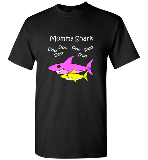 Mommy Shark Doo Do Dark Tee Shirt T-shirt Tshirt