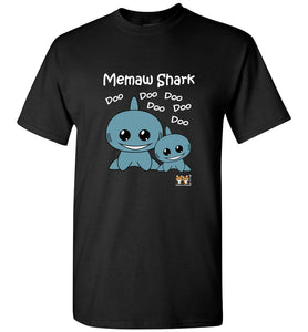 Baby Shark Family - Memaw Shark Song Doo Do Dark Unisex Tshirt tee shirt t-shirt