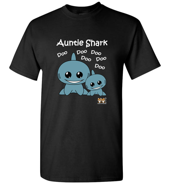 Baby Shark Family - Auntie Shark Song Doo Do Dark Unisex Tshirt tee shirt t-shirt