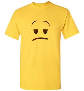 Meh Emoji Yellow Unisex Adult or Youth Tee Shirt T-shirt Tshirt