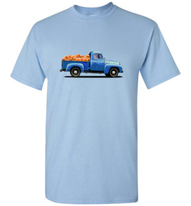 Blue Pumpkin Truck Youth Unisex Tee T-shirt Tshirt