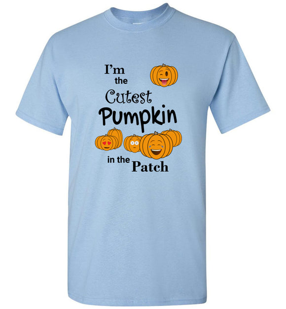 I'm the Cutest Pumpkin in the Patch Emojis Youth Unisex Tee Shirt T-shirt Tshirt - Order by 12/10 for Christmas