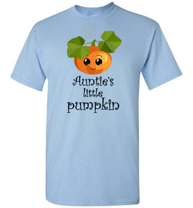 Auntie's Little Pumpkin Youth Unisex Tee Shirt T-shirt Tshirt