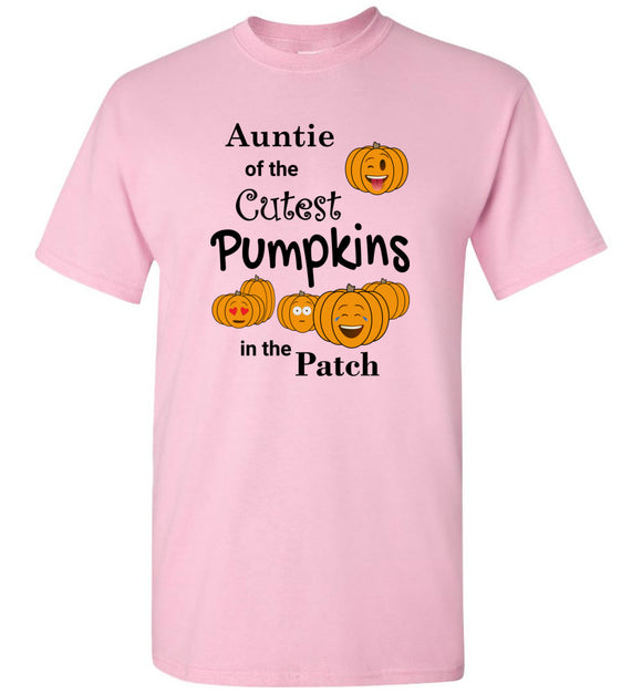 Auntie of the Cutest Pumpkins in the Patch Adult Unisex Tee Shirt T-shirt Tshirt