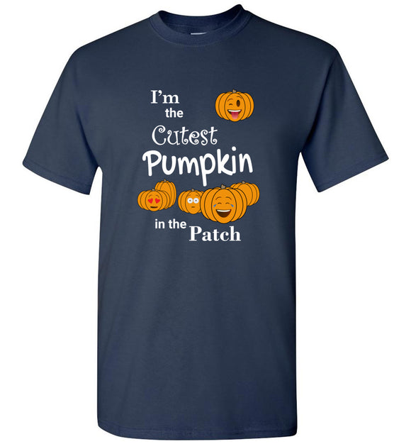 I'm the Cutest Pumpkin in the Patch Emojis Youth Unisex Tee Shirt T-shirt Tshirt - white text - Order by 12/10 for Christmas