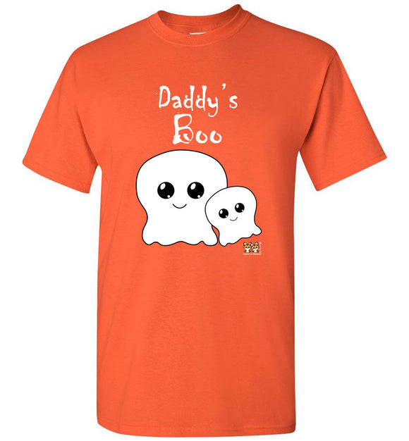 Daddy's Boo Youth Unisex Tee Shirt T-shirt Tshirt white text - Halloween