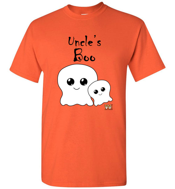 Uncle's Boo Youth Unisex Tee Shirt T-shirt Tshirt black text - Halloween