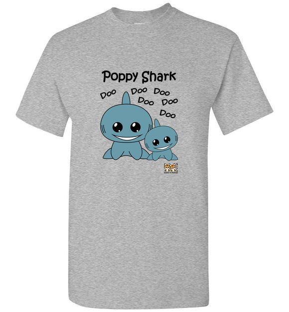 Baby Shark Family - Poppy Shark Song Doo Do Light Unisex Tshirt tee shirt t-shirt