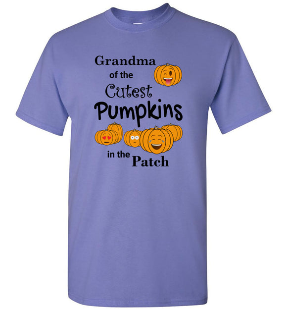 Grandma of the Cutest Pumpkins in the Patch Adult Unisex Tee Shirt T-shirt Tshirt