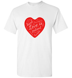 "1 Corinthians 13 ""Love is..."" Unisex Adult and Youth Tee t-shirt"