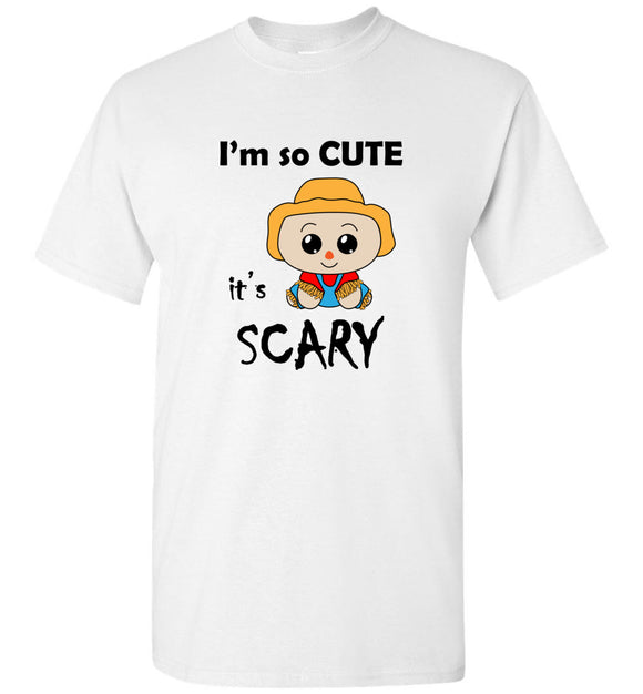 I'm So Cute It's Scary Scarecrow Youth Tee Shirt T-shirt Tshirt