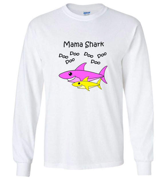 Baby Shark Matching Family Merch - Mama Shark Doo Do Unisex Long Sleeve Tee Shirt T-shirt Tshirt