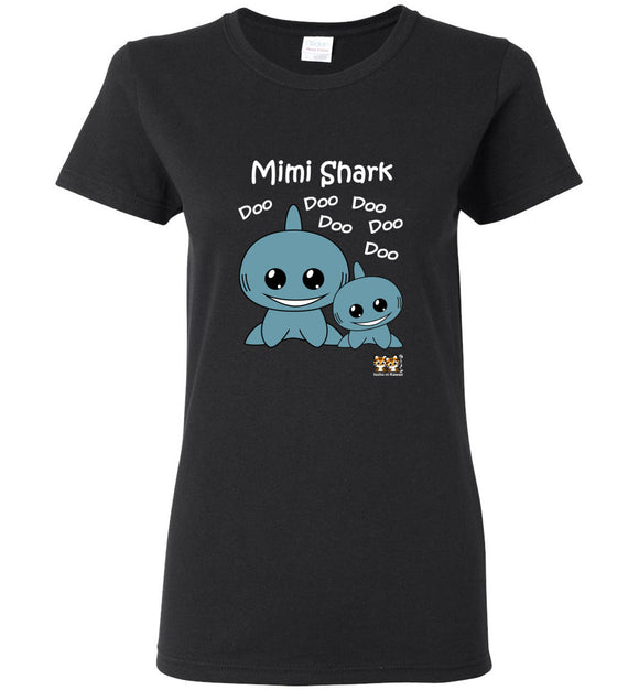 Mimi Shark Song Doo Do Dark Ladies Tshirt tee shirt t-shirt - Issho ni kawaii cute