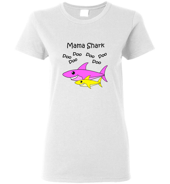 Baby Shark Matching Family Merch - Mama Shark Doo Do Ladies Womens Tee Shirt T-shirt Tshirt
