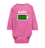 Baby Battery Family Matching Long Sleeve Infant Bodysuit/Romper/Jumper - See Discounts Lower on Page