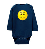 Smiling Eyes Emoji Long Sleeve Baby Bodysuit Romper Jumper