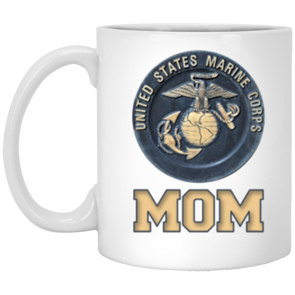 USMC United States Marine Corp Mom 11oz White Gift Coffee Mug