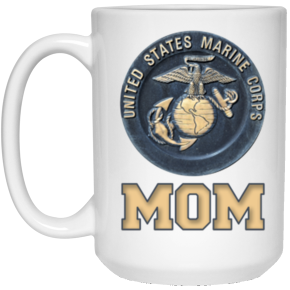 USMC United States Marine Corp Mom 15oz White Gift Coffee Mug