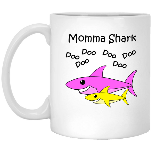 Momma Shark - Baby Shark Song Family - 11 oz. White Mug