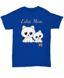 Eskie Mom Unisex Tee Shirt t-shirt tshirt American Eskimo Dog - Issho Ni Kawaii cute - Order by 12/10 for Christmas