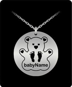 Personalized Name Laser Engraved Teddy with Footprints