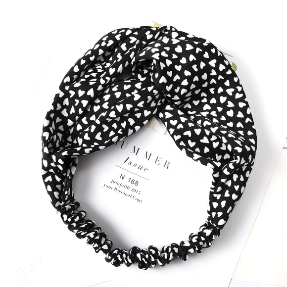 Hillary Heart Cloth Headband