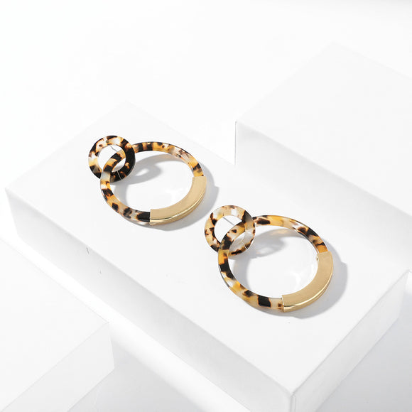 Emma Double Circle Drop Earring