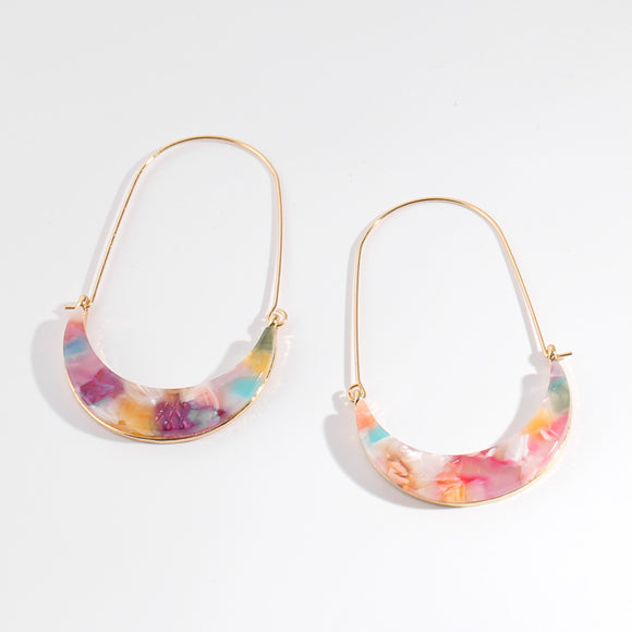 Hazel Drop Resin Earring