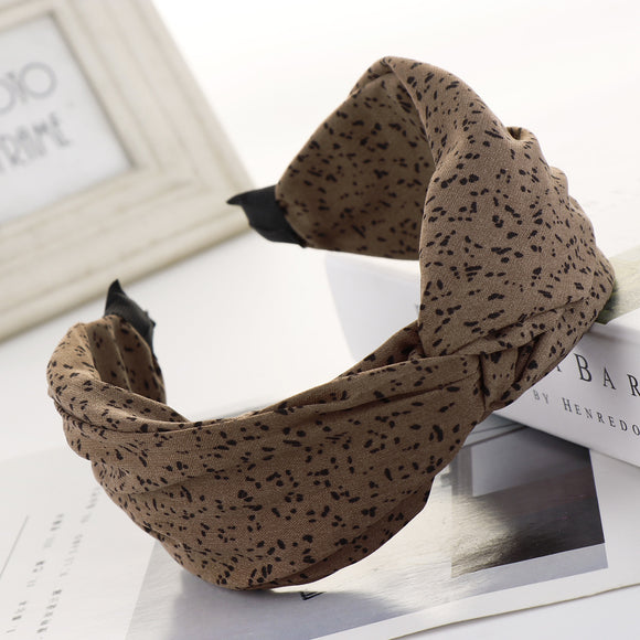 Dotted Knotted Fabric Headband