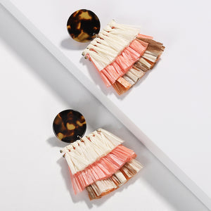 Cora Handwoven Paper Statement Earring