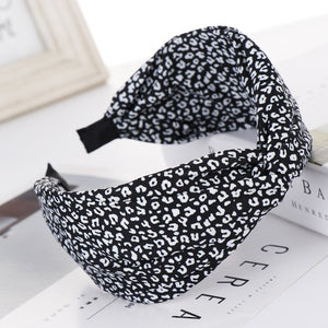 Leopard Knotted Fabric Headband