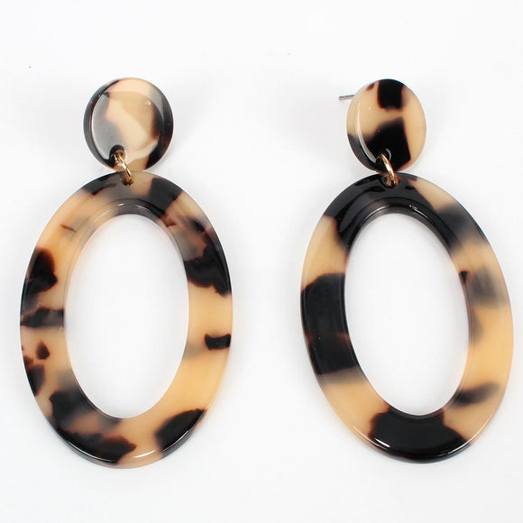 Leslie Resin Drop Earring