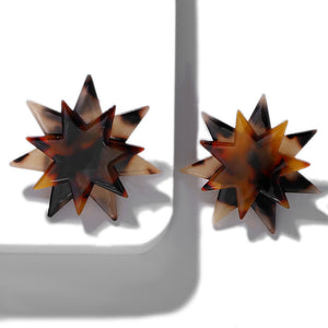 Zara Tortoise Resin Starburst Earring