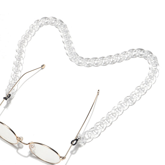 Clear Face Mask & Glasses Chain