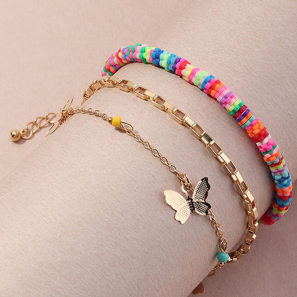 Beads and Butterflies Bracelet Stack