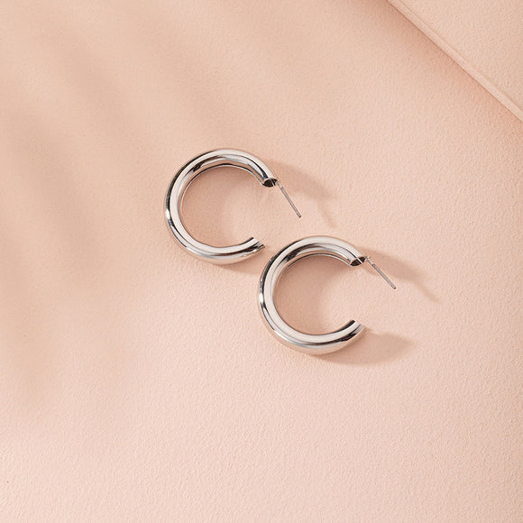Thick Silver Hoop