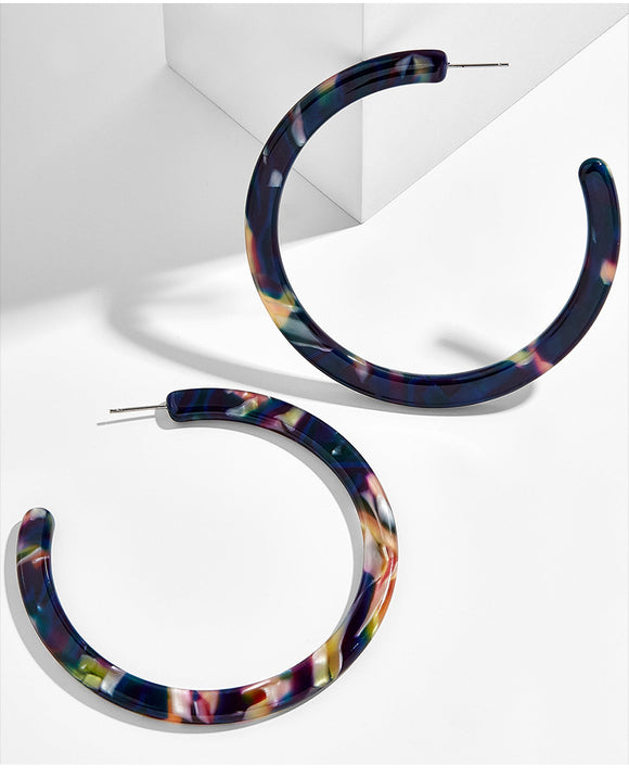 Amanda Resin Hoop Earring