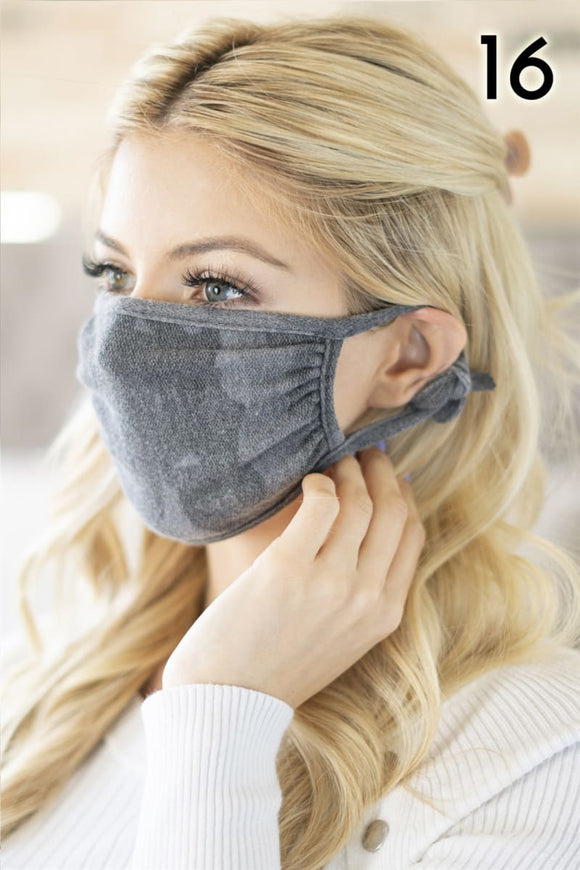 Camouflage Cotton Reusable Face Masks