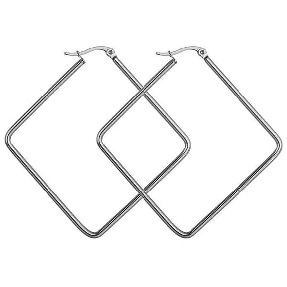 Molly Geometric Hoop Earring