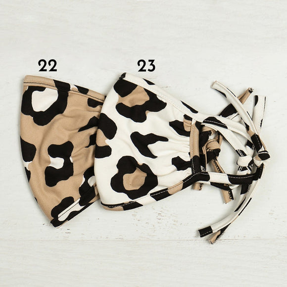 Big Leopard Print Cotton Reusable Face Masks