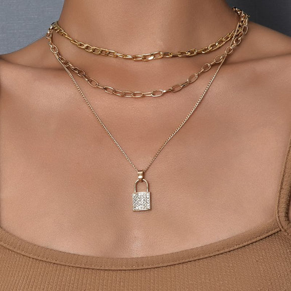 Lock Necklace Set