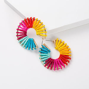 Tamara Beaded Statement Earring